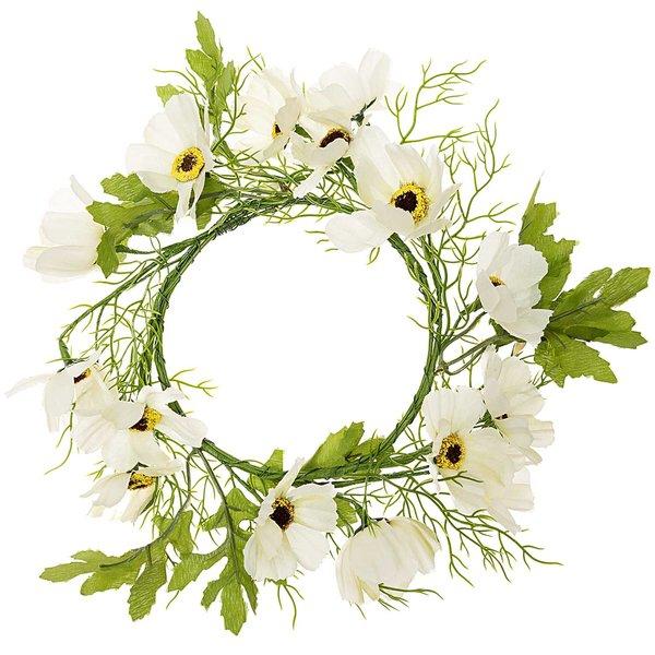 Kranz mit Blumen grüß-weiß 12cm