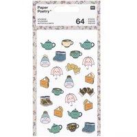Paper Poetry Sticker Cosy Kawaii 4 Blatt