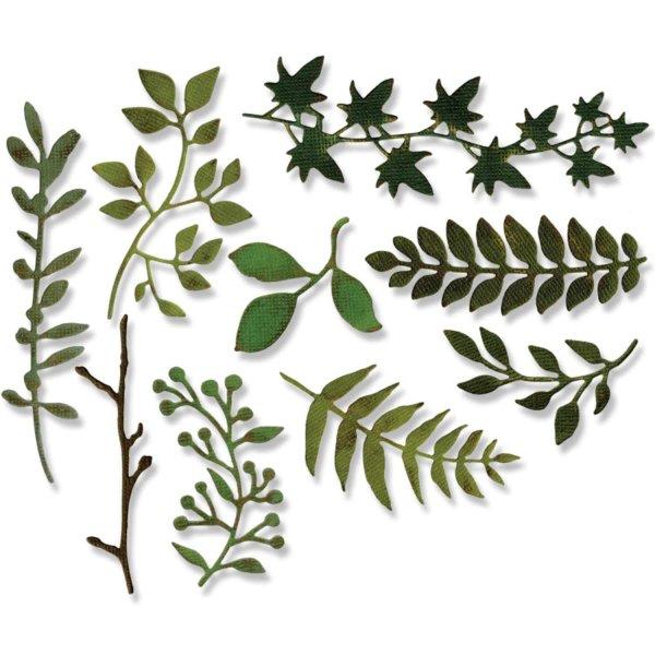 Sizzix Thinlits Die Set Garden Greens