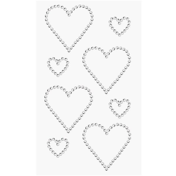 Paper Poetry Strass-Sticker Doppelherzen crystal