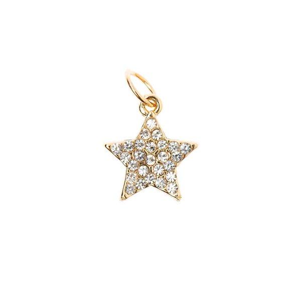 Mix it Up - Jewellery Stern Anhänger Strass gold  Ø10mm