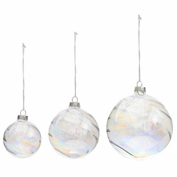 Ohhh! Lovely! Baumschmuck Glaskugel klar-irisierend