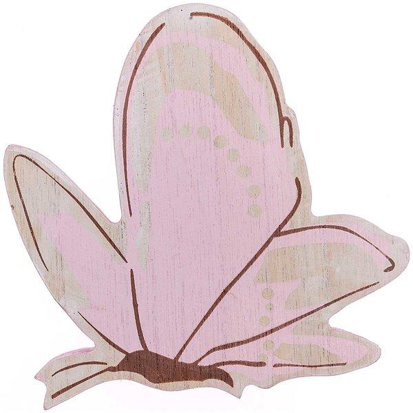 Deko-Schmetterling zum Stellen aus Holz softrosé 13x12,5x1,5cm