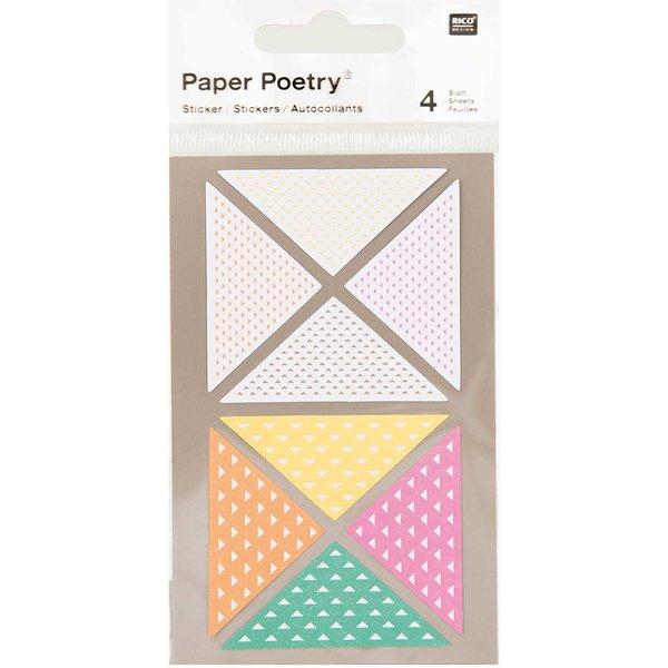 Paper Poetry Sticker Dreiecke neon 4 Bogen
