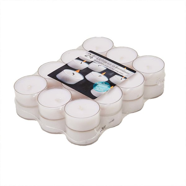 Kopschitz Teellichter mit transparenter Hülle 24 Stück