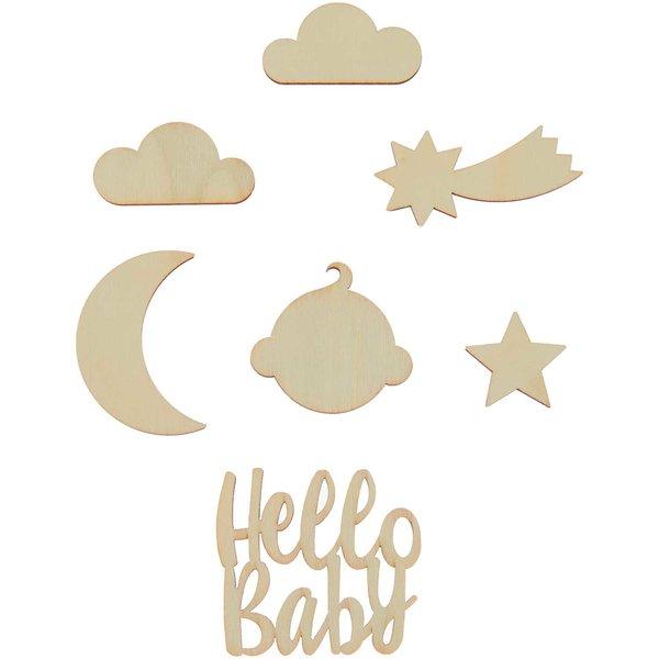 Made by Me Holzdeko Set Hello Baby 7-teilig
