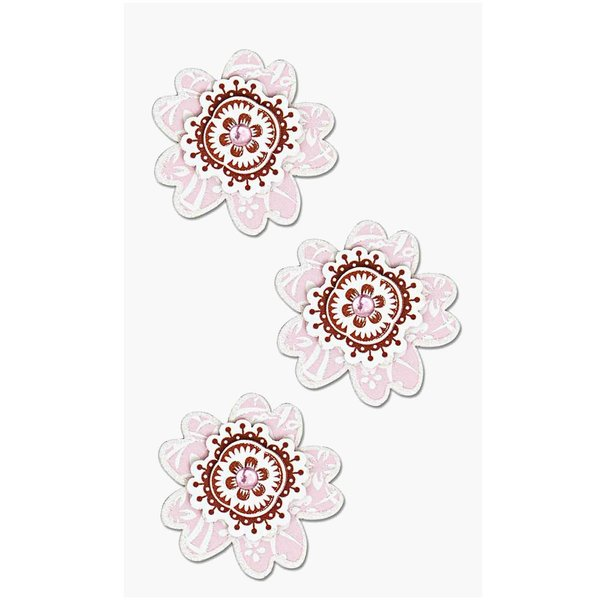 Paper Poetry 3D Sticker Blumen rosa