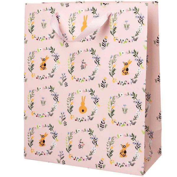Paper Poetry Geschenktüte Bunny Hop Blumenkranz 26x32x12cm