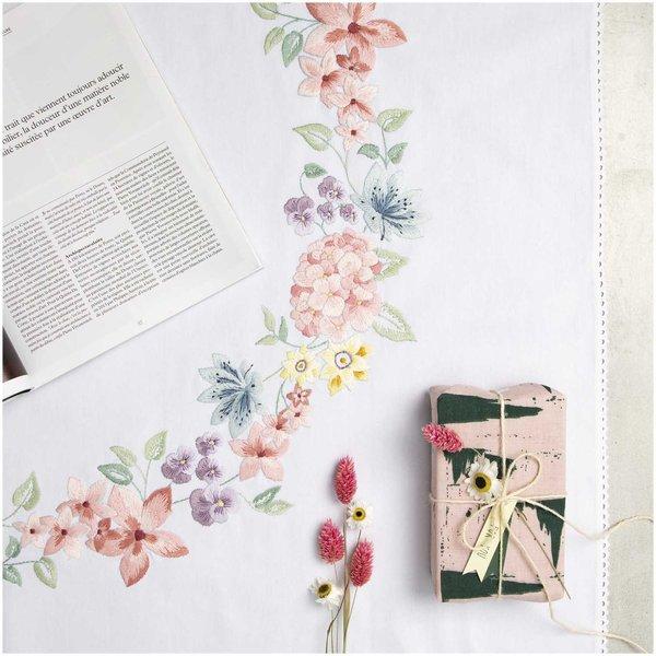 Rico Design Stickpackung Decke Hortensienkranz 95x95cm