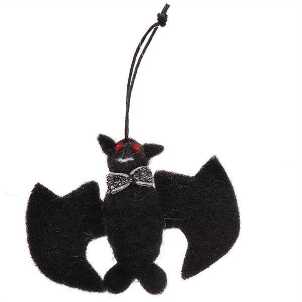Ohhh! Lovely! Fledermaus handgefilzt schwarz 9,5x7,5cm