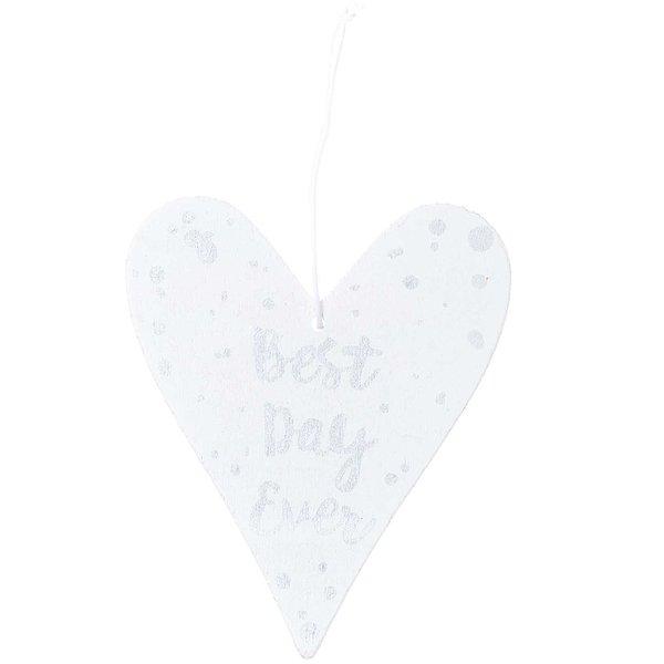 Ohhh! Lovely! Holzhänger Herz mit Spruch weiß-silber 0,4x8,4x17cm