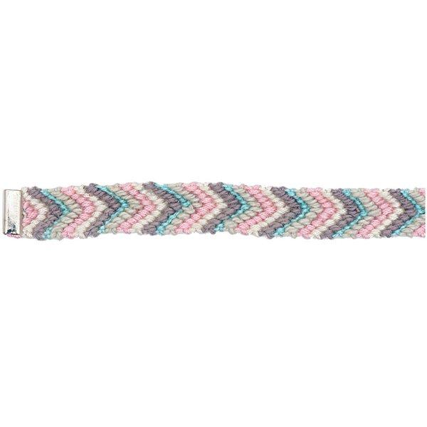 Rico Design Freundschaftsband rosa-grau-hellblau M/L 10x180 mm