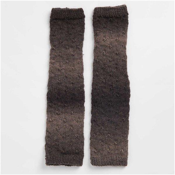 Strickset Tuch Modell 17 aus Die Neue Masche Nr. 1 anthrazit-beige Onesize