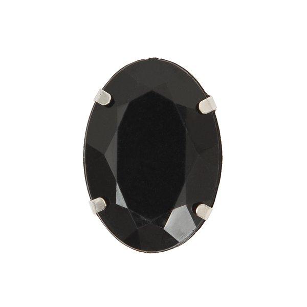 Jewellery Made by Me Aufnähstein gefasst schwarz 18x25x9mm