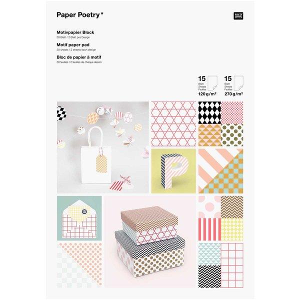 Paper Poetry Motivpapier Block Graphic 21x30cm 30 Blatt