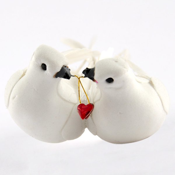 Taubenpaar mit Herz 11x3,5cm
