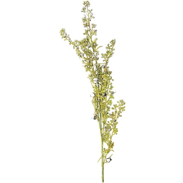 Deko-Zweig mit Schellen silber 75cm