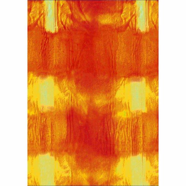 MARPA JANSEN Faltblätter transparent gelb mit Batikoptik 15x15cm 32 Stück