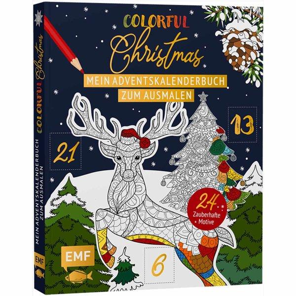 EMF Mein Adventskalender-Buch zum Ausmalen: Colorful Christmas