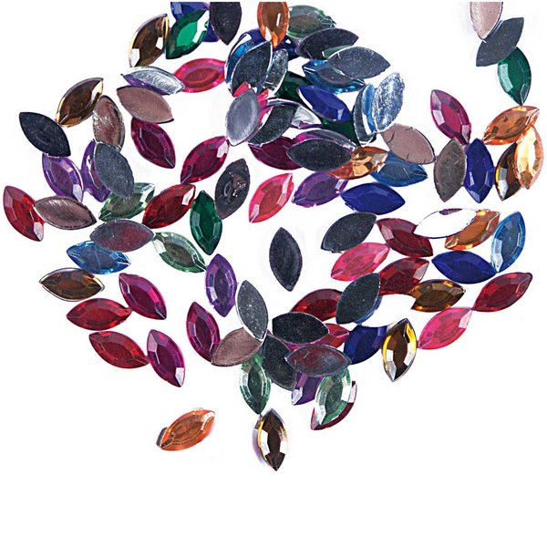 Rico Design Strass Blätter bunt 100 Stück