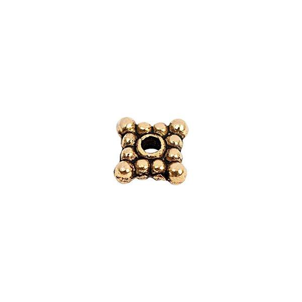 Rico Design Scheibe eckig gold 6x2mm 30 Stück