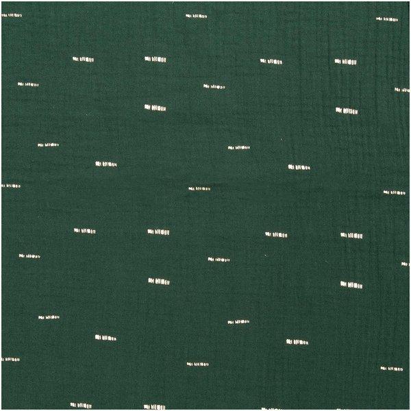 Rico Design Krinkelmusselin-Druckstoff grün Hot Foil 50x130cm
