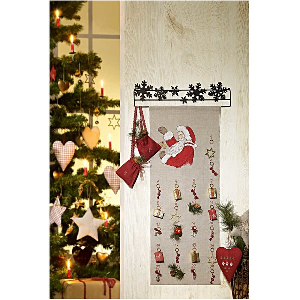 Rico Design Stickpackung Behang Nikolaus Adventskalender 30x76cm