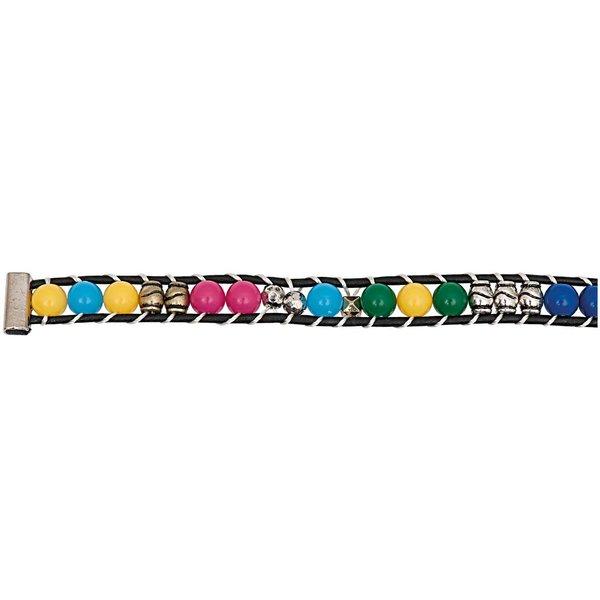 Rico Design Perlenband mehrfarbig M/L 10x180mm