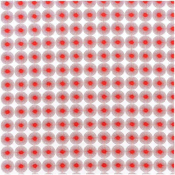 Rico Design Stoff Rosette rot 50x70cm