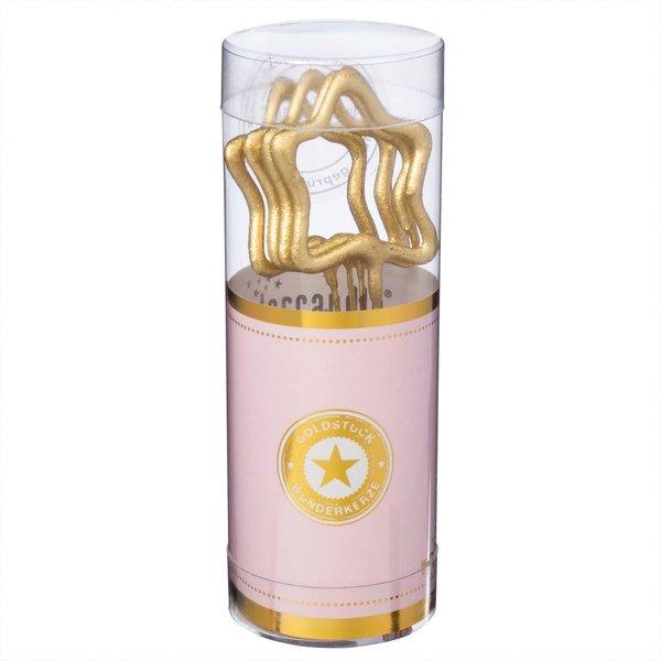 Wondercandle Wunderkerzen Symbol Mini-Sterne gold 4 Stück