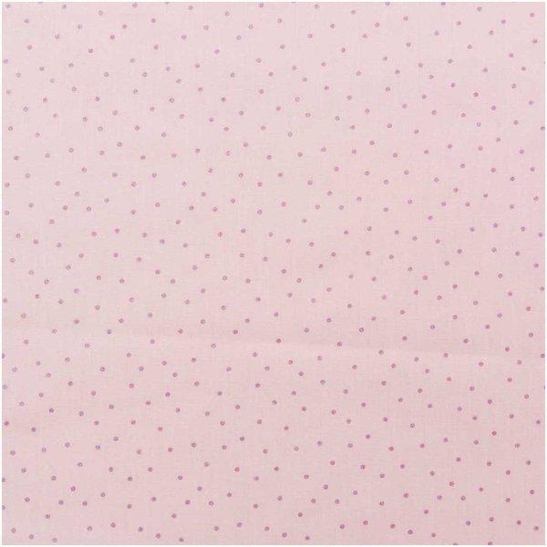 Rico Design Druckstoff Hygge Punkte rosa-metallic 50x140cm