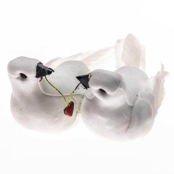 Taubenpaar mit Herz 8,5cm