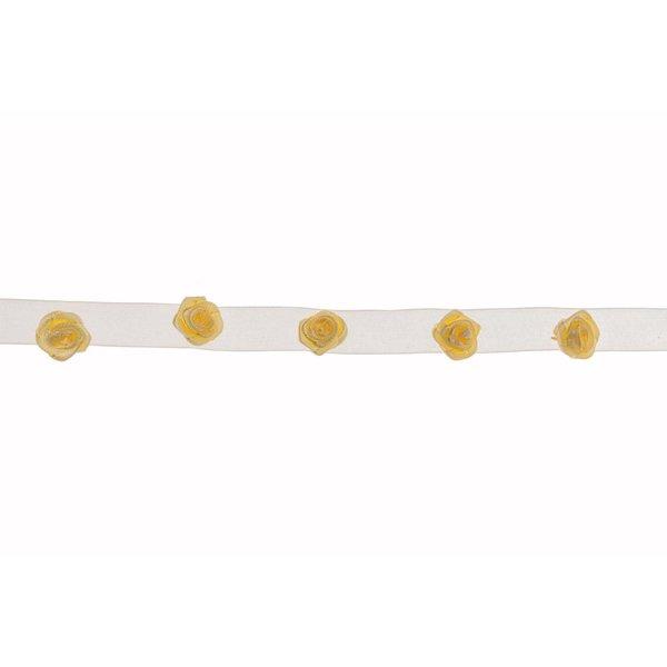Blütenband mit Dior-Röschen creme 95cm