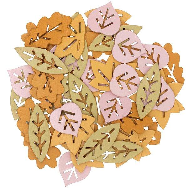 Ohhh! Lovely! Holzstreu Blätter Mix braun 48 Stück