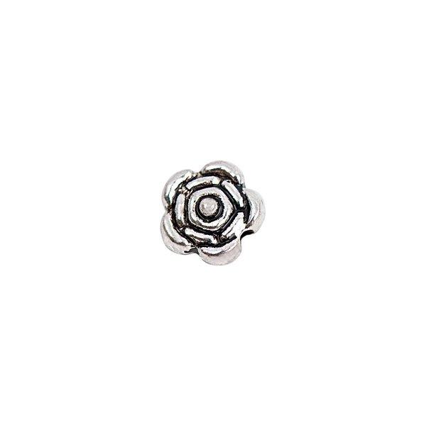 Rico Design Rose silber 6mm 20 Stück