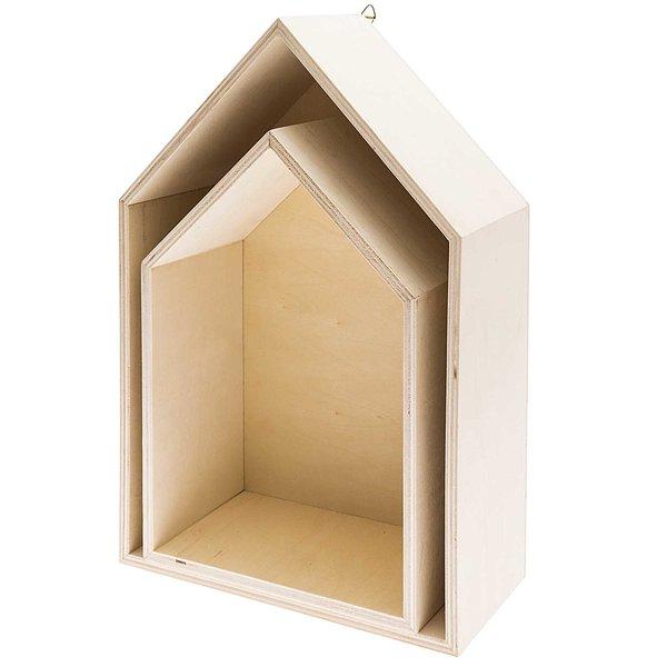 Rico Design Holzbox Set Häuser 2teilig