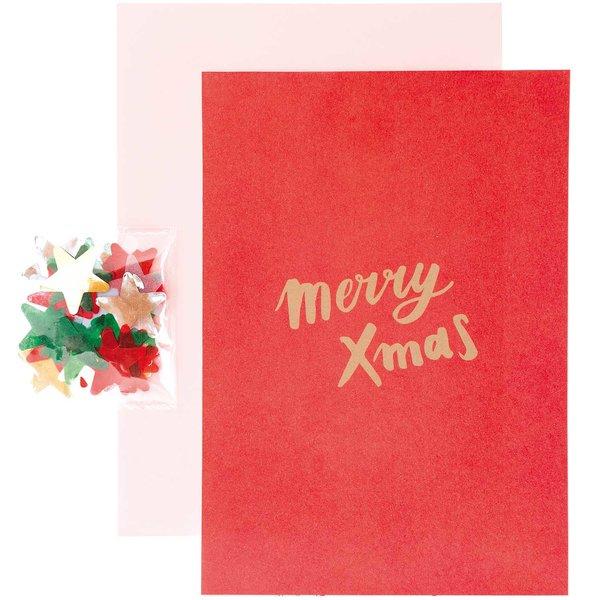 Paper Poetry Grußkartenset Merry Xmas