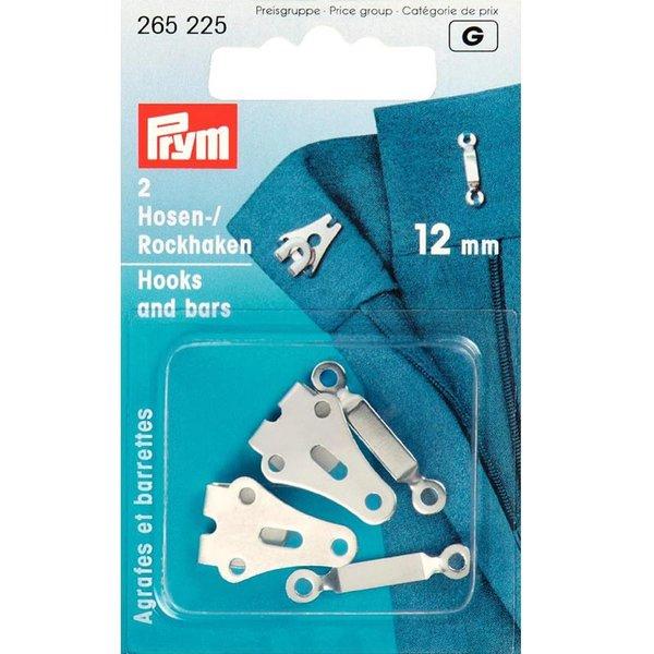 Prym Hosen- und Rockhaken silber 12mm 2 Stück