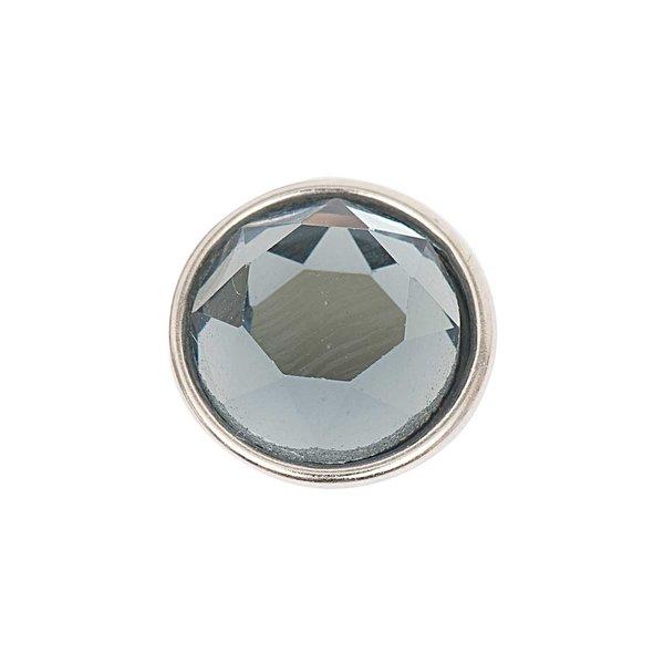 Rico Design Knopf Glas geschliffen grau 14mm