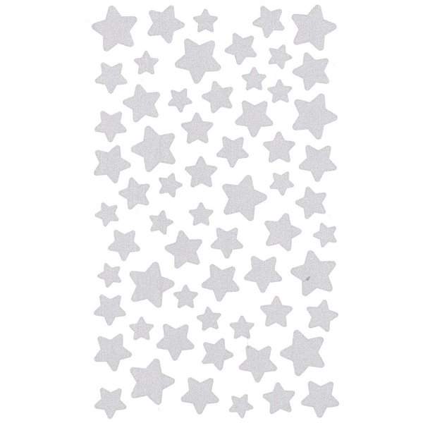 Paper Poetry Sticker Sterne silber 4 Bogen