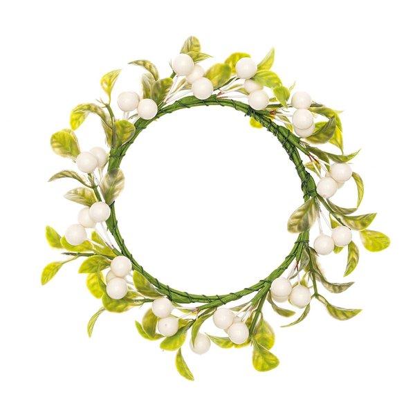 Ohhh! Lovely! Kranz Beeren & Blätter weiß 10cm