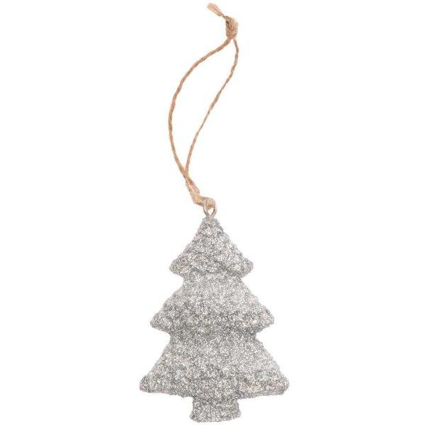 Ohhh! Lovely! Hänger Tannenbaum aus Polyresin silber 4x6cm