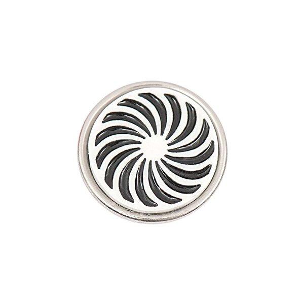 Rico Design Knopf Spirale schwarz-weiß 14mm