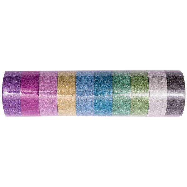 Paper Poetry Glitter Tape Set mehrfarbig 1,5cm 5m 10 Stück