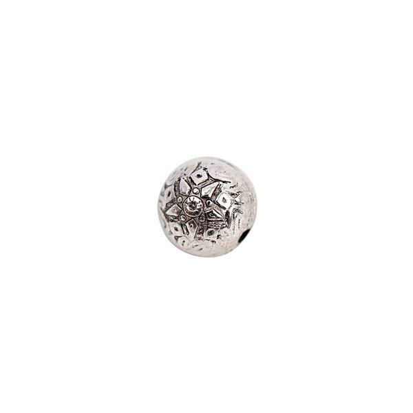 Rico Design Kugel Ornament silber 10mm 25 Stück