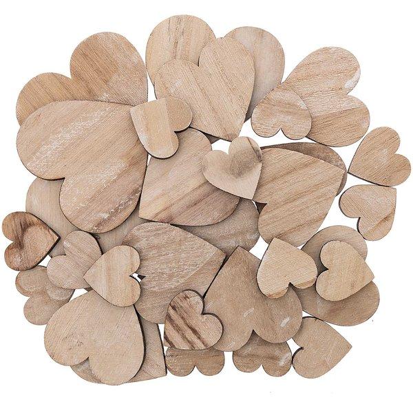 Holzstreu Herzen 30 Stück