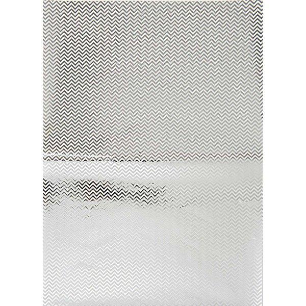 Rico Design SB Paper Patch Papier Zickzack silber 30x42cm 3 Bogen Hot Foil