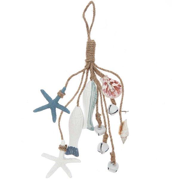 Ohhh! Lovely! Holzhänger Maritim mit Glöckchen blau-weiß 25cm