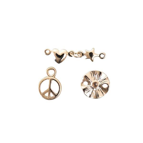 Jewellery Made by Me Anhänger Mix13 gold 3 Stück