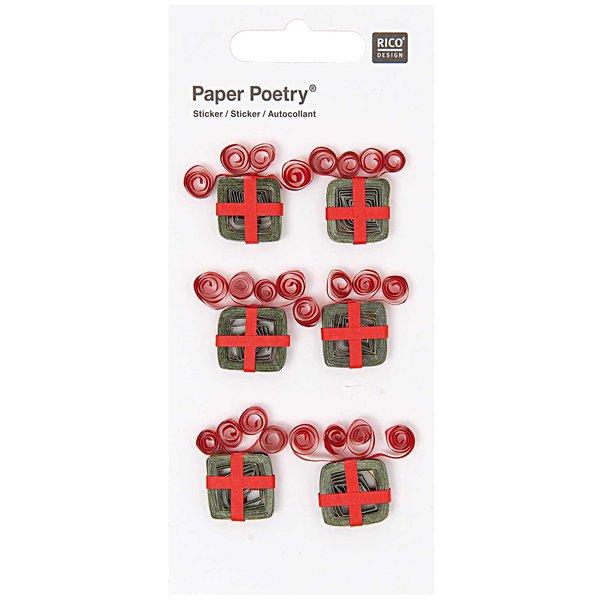 Paper Poetry Quilling Sticker Weihnachtsgeschenke